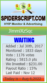 JimmiXzSqc Monitoring details on SpiderScript.COm